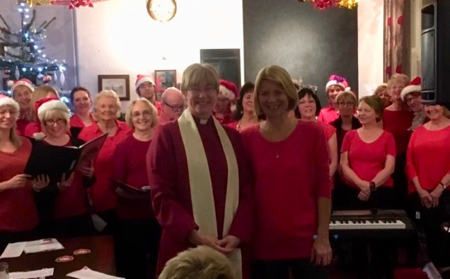 Carol Service at the Pony & Trap, Cullompton, with Cullompton Community Choir, December 2016